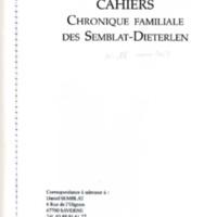 Chronique familiale des Semblat - Dieterlen