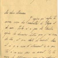 Lettre de Robert Lutz